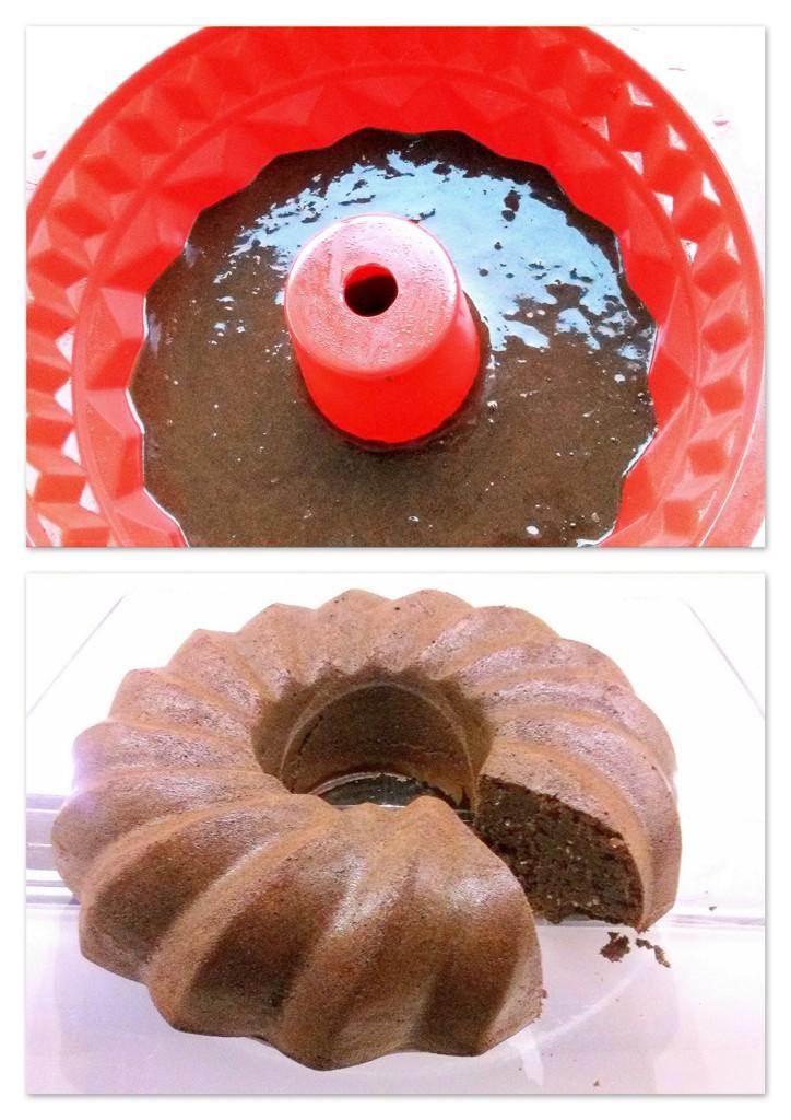 Sokoladinis juoduju pupeliu pyragas